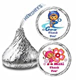 216 Team Umizoomi B-day Party Hershey Kisses Stickers Thank You Labels Party Favors