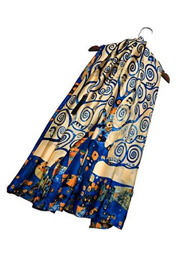baratos y buenos Van Gogh Homone Klimt Pintura impresionista Bellas artes Bufanda de seda Costura Elegante Nueva Novedad … calidad