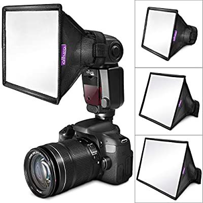 (3 Pack) Flash Diffuser Light Softbox by Altura Photo (Universal, Collapsible with Storage Pouch) for Canon, Yongnuo and Nikon Speedlight