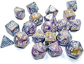 Chessex Festive Polyhedral 20-Die Set, Carousel with White Numbers Dice for Dungeons and Dragons (DND), Role Playing Games, MTG, Pathfinder, Table Game, Board Games