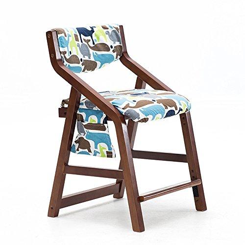 MEIDUO Durable Selles Ascenseur en bois solide de chaise avec le dossier pour 3-18 ans de taille réglable 20 couleurs pour intérieur extérieur (Couleur : G)