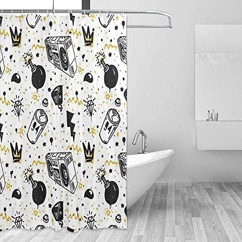 Cortinas de Ducha Amarillo Original Juvenil para Usar Cualquier Cortina Cortina de Ducha Cortinas de Baño Impermeables Cortinas de Ducha Ganchos para Decoración de Baño 70x70