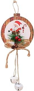 Iusun Christmas Wind Bell Door Hanging Decorations Pendant Scene Ornament DIY Xmas Tree Window Decor for Party New Year