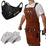 FIGHTECH Leather Work Apron AND Dust Mask with 2 Carbon Filters