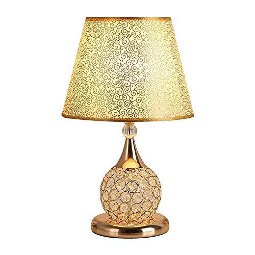 XYZMDJ tafellamp - moderne kristallen lamp in minimalistisch design met schuine lampenkap van stof