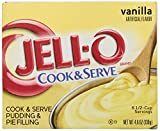 JELL-O Vanilla Cook & Serve Pudding Mix (4.6 oz Box)