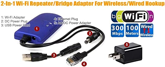 Wireless to Wired Ethernet/Ethernet to Wi-Fi Wireless Network Bridge Adapter