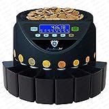 Automatischer Euro Münzzähler & -sortierer Geldzählmaschine SR1200LCD mit Abhülsung Geldzähler Münzzählautomat Securina24 (schwarz LCD - BBB) - 2
