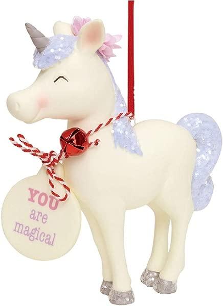 Snowpinions Standing White Unicorn Ornament 4