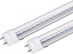 Maidodo 2x LED Bombillas Tubos Fluorescentes y de neón A+ T8 G13 120cm 4FT 18W 1620LM 96SMD luz Blanco Neutral 4000-4500K Cubierta Transparente