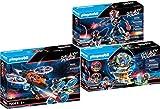 PLAYMOBIL Galaxy Pirates Set de 3 Juegos 70022 70023 70024 Caja Fuerte con Código Secreto + Piratas Helicóptero + Piratas Robot