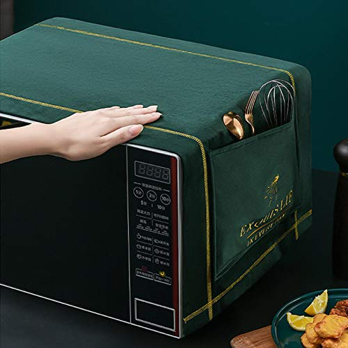 POHOVE - Housse de protection anti-poussière pour four à micro-ondes et four à micro-ondes - Avec 2 poches latérales - 39 x 13,8 cm
