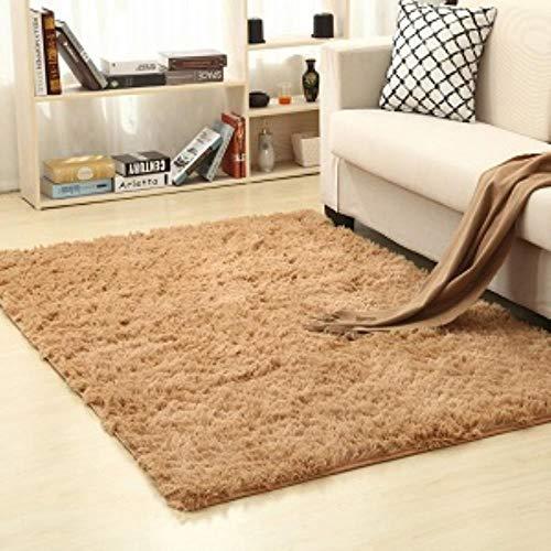 Zzxx Living Room Home Warm pluche tapijten pluizige matten kamermatten zijdeachtig tapijten