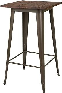 Glitzhome Metal Bar Table Bistro Pub Sturdy Frame Pub Table