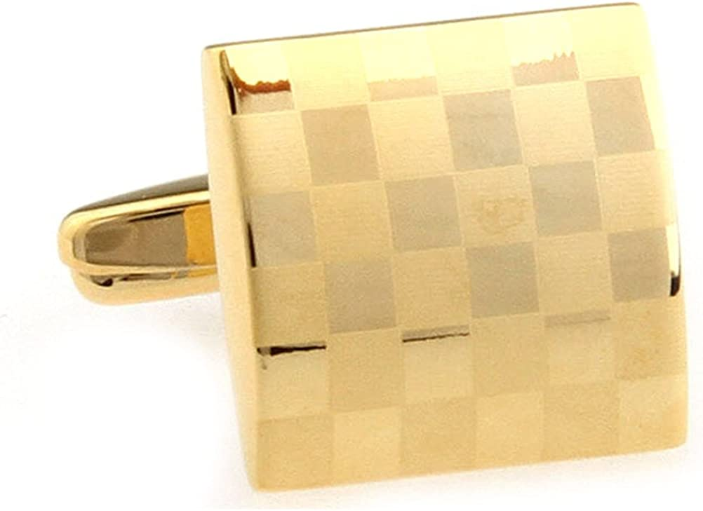 Selling Mens Cufflinks Laser Classic Square Business Luxury Complete Free Shipping Wedding Gift