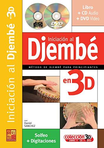 Iniciación al djembé en 3D - 1 Libro + 1 CD + 1 DVD