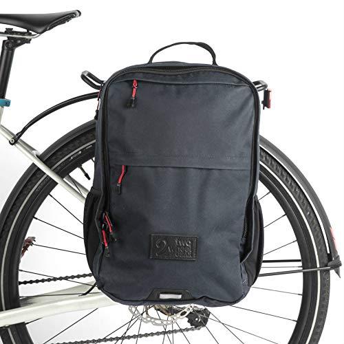 Two Wheel Gear Mochila Pannier Plus de Dos Ruedas (Grande), 2 en 1, Bolsa de Viaje y de Viaje para Bicicleta