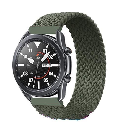 DXFFOK Banda de Bucle Solitario Trenzada de 20 mm / 22 mm para Samsung Galaxy Watch 3 / 46mm / 42mm / Activo 2 / Engranaje Pulsera S3 para Huawei Watch GT / 2 / 2e / Pro Correa de Reloj de Reloj