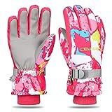 Yobenki Ski Gloves, Winter Waterproof Snow Gloves Non-Slip Breathable Cold Weather Gloves for Mens, Womens,...