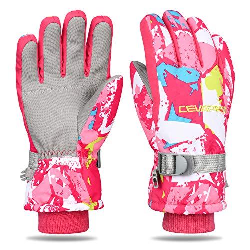 Yobenki Skihandschuhe Winter Handschuhe für Kinder & Herren Damen Warme Fahrradhandschuhe Touchscreen Winterhandschuhe Wasserdicht Ski Thinsulate Insulated für Bergsteigen, Skifahren -20℃/-4℉