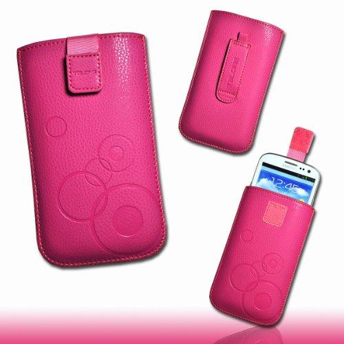 Funda Bolsillo Funda Carcasa Case Pink Diseño Circle Talla 3para Huawei Honor/Huawei...