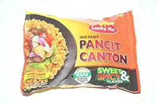 Lucky Me Instant Pancit Canton (CHOW MEIN) Sweet & Spicy Flavor 12 x 60g by Lucky & Me