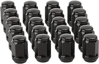 12mmx1.5 Lug Nuts, KSP Set of 20 Black Steel Tuner Lug Nuts M12x1.5 - Conical Acorn Seat Closed Bulge End 3/4'' (19mm) Hex 1.38'' Length for 5 Lug Wheels