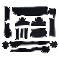 N-BOX N-BOXカスタム JF1 JF2 ドアポケットマット ラバーマット ゴムマット 13P (ホワイト 蓄光) Nボックス NBOX n box 内装 滑り止めマット カップホルダー ドリンクホルダー アームレスト ドアポケットマット ゴムマット