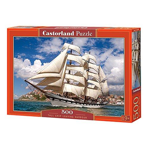 Castorland- Tall Ship Leaving Harbour, Puzzle da 500 Pezzi, Multicolore, B-52851