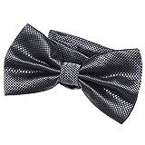 DonDon Pajarita para hombre de 12 x 6 cm ajustable y lista para usar - gris oscuro