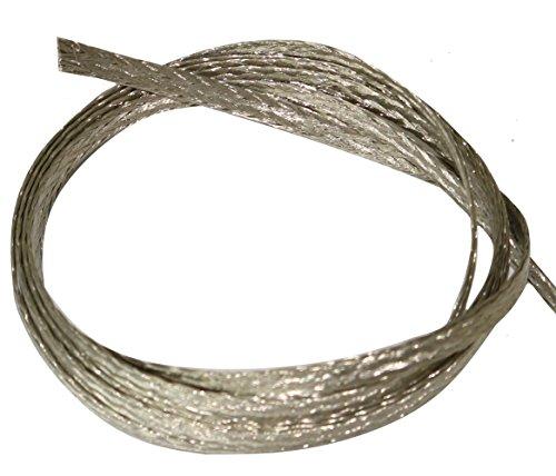AERZETIX C17644 2 m 5 mm Ummantelung 30 A geflochten Kupfer, verzinnt, 16 x 8 x 0,15 mm