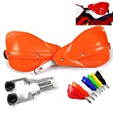 Handguards Motorcycle Hand Guards Motocross Orange Universal Aluminum Alloy...