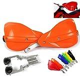 Handguards Motorcycle Hand Guards Motocross Orange Universal Aluminum Alloy...