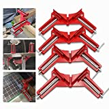 Corner Clamps 4Pcs Woodworking 90 Degree Clamps of Cast Metal, Durable Go-tool Right Angle Clamp with Adjustable Jaws Good for DIY Framing, Shelving, Welding, Fish-tanks, Cabinets