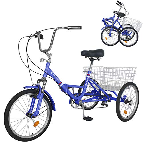 MOPHOTO Adult Folding Tricycle