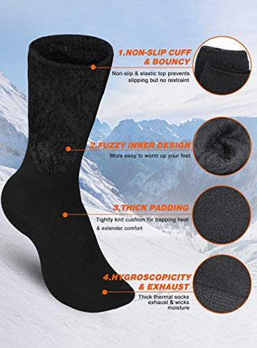 Fashion Shopping Pvendor Thermal Socks for Men, 2 Pairs of Heated Socks for Women, Boys Socks Extreme
