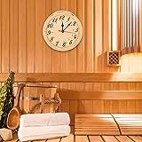 Reloj portátil Hermoso y Elegante Duradero de Madera para la Sala de Sauna