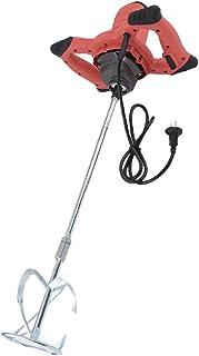 Mezclador de mortero 1600W, mezcladora de mortero pintura agitador de pintura batidor de cemento con 6 velocidades, 930 rpm/min