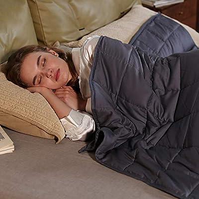 Queen Weighted Blanket 17 lbs60x80 Queen Size Grey 25022021122833