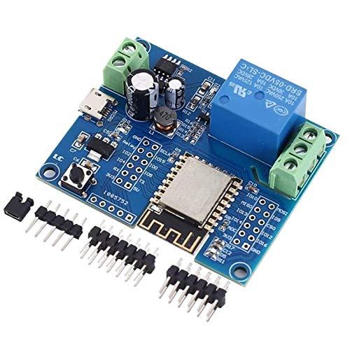 JEOSNDE WiFi Relay Controller-Modul, DC 5V 8V-80V ESP8266 Wireless Controller-Modul ESP-12F für IOT Smart Home App