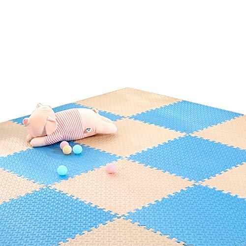 GUORRUI vloerbeschermingsmatten splitten plus dik kind kruipdeken spons slaapkamer puzzel zacht willekeurig naaien, meerdere kleuren