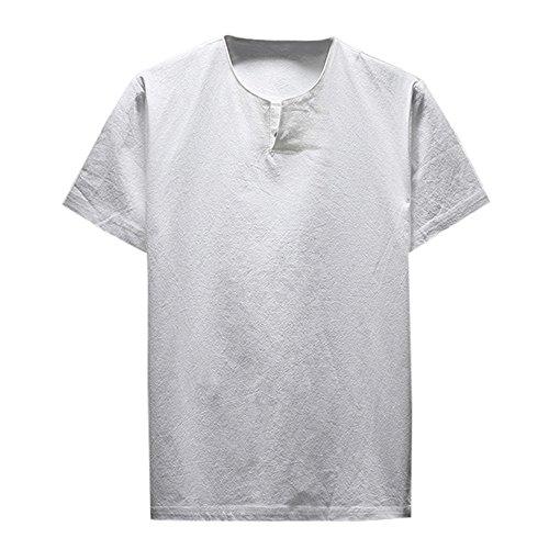Camisas Hombre Tallas Grandes, Lanskirt Camiseta de Manga Corta para Hombre Blusas...