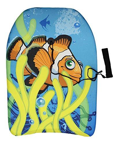 64cm Boogie Board Bodyboard Surf Board Float Kids Leash & Leash Plug (Clown...