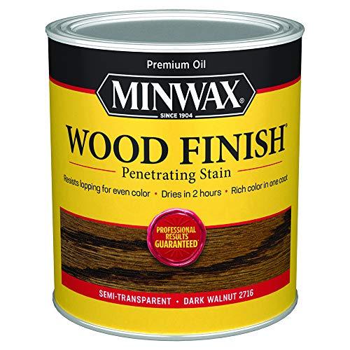 Minwax 70012444 Wood Finish Penetrating  Stain, quart, Dark Walnut