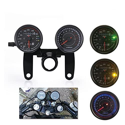 shiqi Motocicleta LED retroiluminación Velocímetro Tacómetro Odómetro Odómetro Moto Cafe Correr Instrumento Tacómetro Tacómetro Accesorios Accesorios Scooter