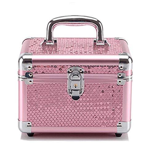 NgMik Bolsas de Maquillaje de Viaje Portátil de Lentejuelas de Color Rosa...