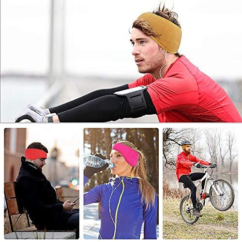 escursioni e ciclismo. Fascia per gli sport invernali per donna e uomo ,Paraorecchie invernali,Paraorecchie 2 fasce per lo sport calde adatte per fare jogging