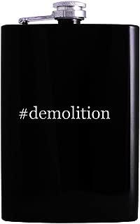 #demolition - 8oz Hashtag Hip Alcohol Drinking Flask, Black