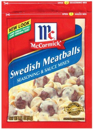 McCormick Swedish Meatballs Seasoning and Sauce Mix, 2.11 oz