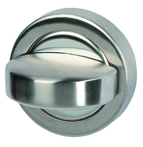 Alpertec 28020870 Edelstahl BI Color Badezimmer/WC Drehriegel für Rosettengarnituren, Türbeschläge, Verriegelung